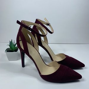 NWOT Burgundy Suede Marc Fisher Telly Pumps